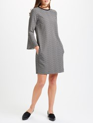 Marella Lontra Relaxed Fit Check Dress Black White