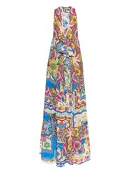 Etro Paisley Print Cotton Maxi Dress