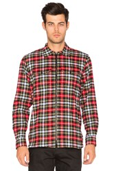 Raised By Wolves Almonte Flannel Button Down Red