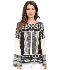 Hale Bob The Bohemian Beat Long Sleeve Top Beige Women's Long Sleeve Pullover