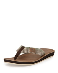 Penguin Del Mar Slip On Thong Sandal Brown