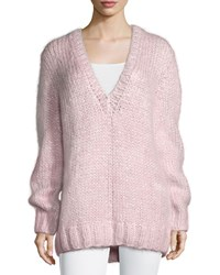 Michael Kors Long Sleeve V Neck Sweater Oleander Women's