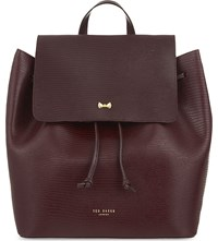 Ted Baker Inara Leather Backpack Maroon
