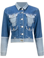 House Of Holland Exposed Seam Denim Jacket Blue