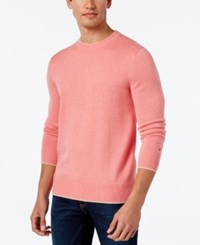 Tommy Hilfiger Men's Trip Tipped Sweater Light Scallop Pink Heather