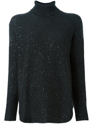 Brunello Cucinelli Sequin Embellished Sweater Black