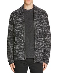 Vince Marled Wool Zip Cardigan Sweater H Shadow