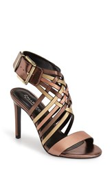 Women's Charles By Charles David 'Isabel' Sandal Rose Gold Leather