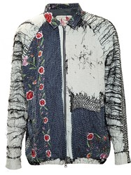 By Walid Claudio Silk Bomber Jacket Multicolour