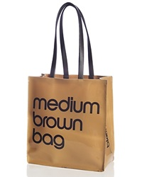 Bloomingdale's Medium Brown Bag Patent Tote