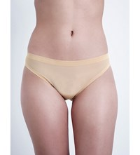 Wolford Tulle Tanga Briefs Nude