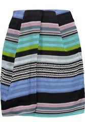 Missoni Bead Embellished Crochet Knit Wrap Mini Skirt Multi