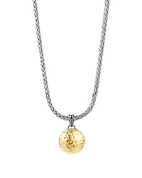 John Hardy Sterling Silver And 18K Gold Palu Round Pendant On Chain Necklace 16