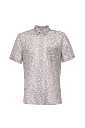 French Connection Monet Freedom Floral Slim Fit Short Sleeve Shirt Pink