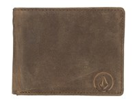 Volcom Prime Leather Wallet Brown Wallet Handbags