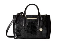 Brahmin Small Lincoln Satchel Black Satchel Handbags