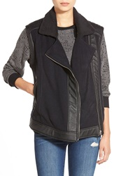 Whitney Eve 'Tanami' Faux Leather Vest Black