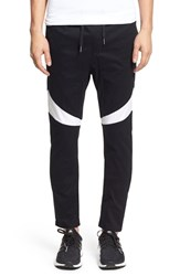 Zanerobe Men's 'Salerno Splinter' Stretch Woven Jogger Pants Black White