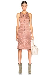 Raquel Allegra Racerback Layering Dress In Red Ombre And Tie Dye