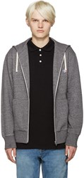 Maison Kitsune Grey Fox Zip Up Hoodie