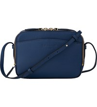 Lk Bennett Mariel Saffiano Leather Cross Body Bag Blu Navy