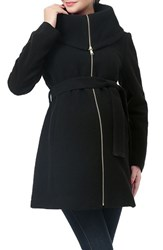 Kimi And Kai Women's 'Mia' High Collar Maternity Coat