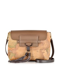 Alviero Martini Happy Color Geo Classic Small Brown Crossbody Bag