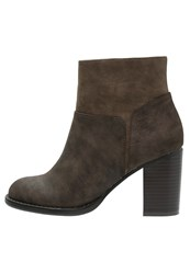 Anna Field Ankle Boots Dark Brown Cognac Light Brown