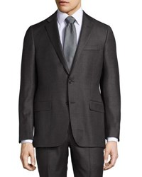 Hickey Freeman Classic Fit Two Button Suit Gray