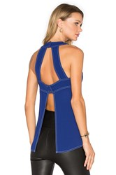 Bcbgmaxazria Open Back Tank Blue