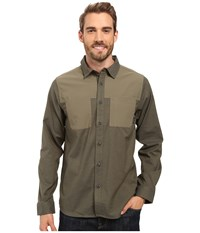 Mountain Hardwear Stretchstone Utility Long Sleeve Shirt Stone Green Men's Long Sleeve Button Up