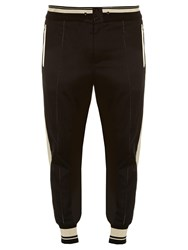 Dolce And Gabbana Side Striped Track Pants Black