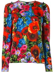 Dolce And Gabbana Floral Print Blouse Multicolour