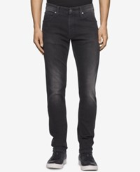 Calvin Klein Men's Slim Fit Metal Black Jeans