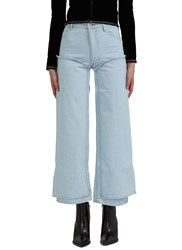 Eckhaus Latta Double Layered Panel Jeans Blue