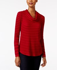 Styleandco. Style Co. Striped Cowl Neck Top Only At Macy's Ton Stripe Red