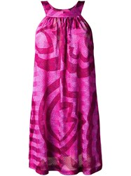 Missoni Printed Short Dress Pink And Purple