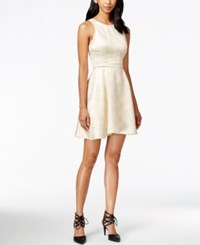 Bcbgeneration Cutout Back Jacquard Fit And Flare Dress