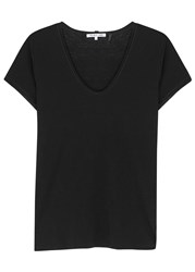 Helmut Lang Black Cotton And Cashmere Blend T Shirt
