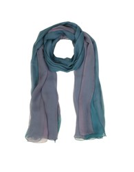 Laura Biagiotti Gradient Turquoise Lilac Silk Long Scarf