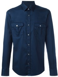 Hugo Boss Safari Pockets Shirt Blue