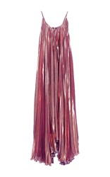 Maria Lucia Hohan The Copper Pleated Dress Metallic