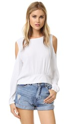 Ella Moss Usiku Cold Shoulder Blouse White