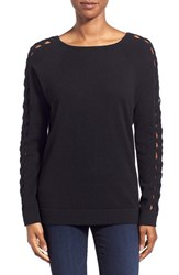 Women's Kinross Cashmere Braided Dolman Sleeve Sweater