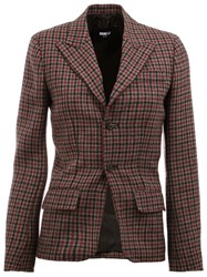 Yang Li Tweed Blazer Red