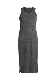 Atm Anthony Thomas Melillo Sleeveless Jersey Henley Dress Dark Grey