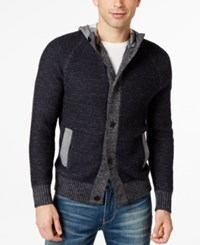 Calvin Klein Jeans Colorblocked Hooded Cardigan