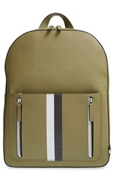 Ben Minkoff 'Bondi' Leather Backpack Striped Army Green
