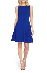 Women's Tahari Seamed Knit Fit And Flare Dress Cobalt