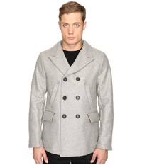 Billy Reid Bond Peacoat Grey Men's Coat Gray